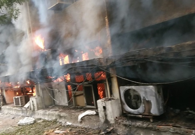 Delhi Transport Department office fire