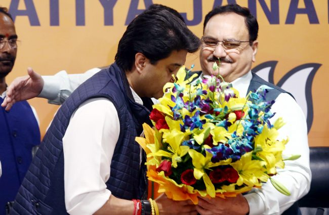 Jyotiraditya Scindia joins Bharatiya Janata Party (BJP), in presence of BJP President JP Nadda