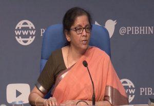कोरोनाकाल के बीच कार्यशील पूंजी ऋण 2 दिनों में दोगुना हुआ : वित्त मंत्री निर्मला सीतारमण