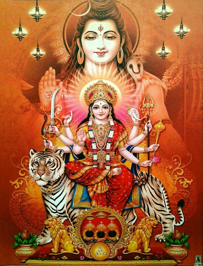 Lord Shiva With Maa Durga