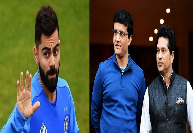 Virat Kohli, sachin and Sourav