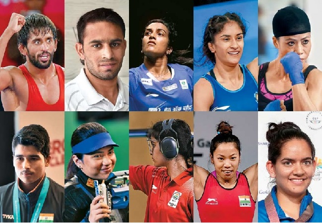 indian players olympic