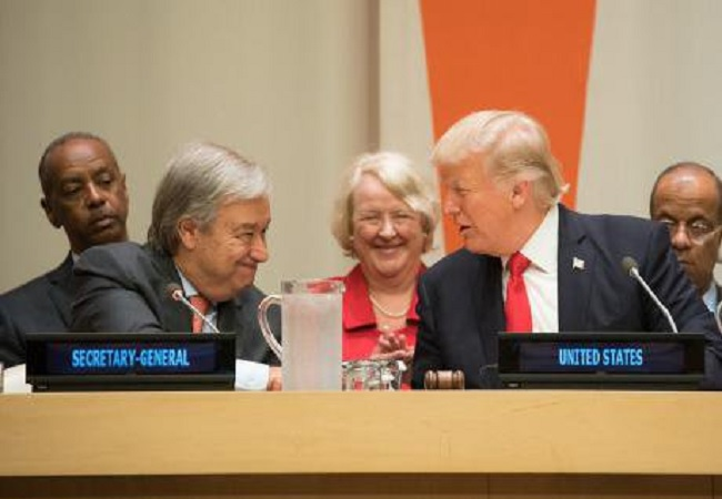 Guterres and trump