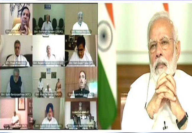 pm meeting to all party leaders