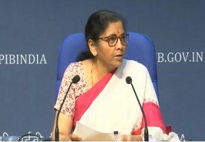 कृषि के बुनियादी ढांचे के लिए एक लाख करोड़ देगी सरकार : वित्तमंत्री सीतारमण