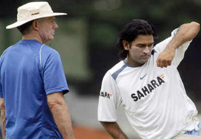greg chappell and dhoni