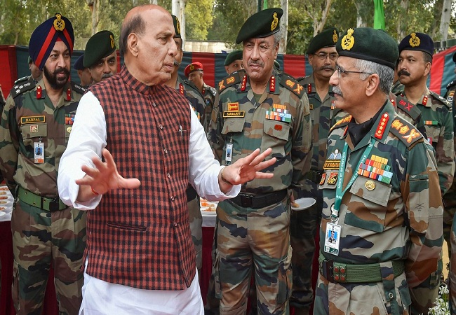 Rajnath Singh Army Chief General MM Narwane