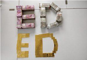 महाराष्ट्र में फैमा के तहत प्रवर्तन निदेशालय ने की छापेमारी, 62 लाख रुपये नकद और सोने की छड़ें जब्त