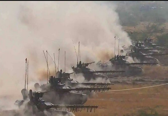 India deployed missile-fired T-90 tanks