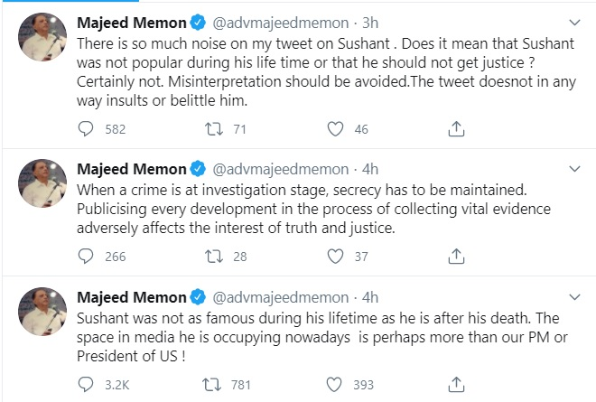 Majeed Memon Tweet