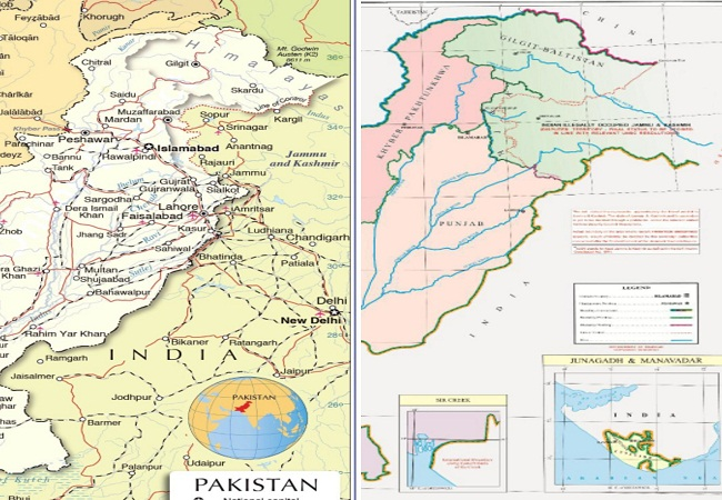 Pakistan New & old Political Map 1