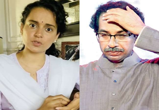 Kangna ranaut And Uddhav Thackeray