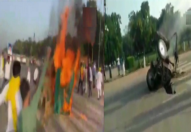 Tractor Fire India Gate