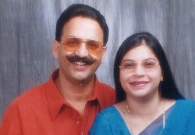 Mukhtar Ansari and his wife