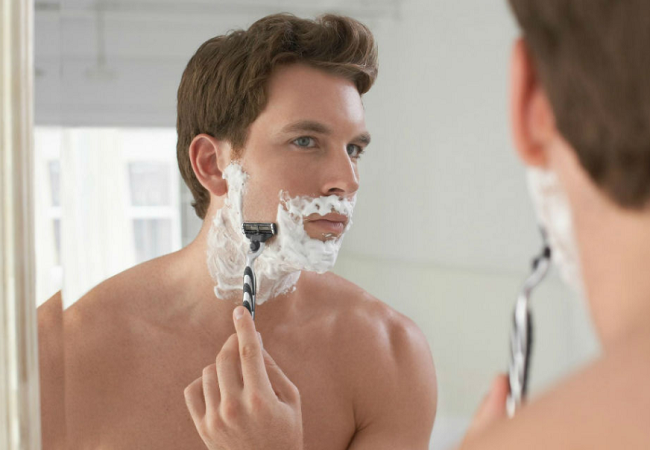 shaving for man