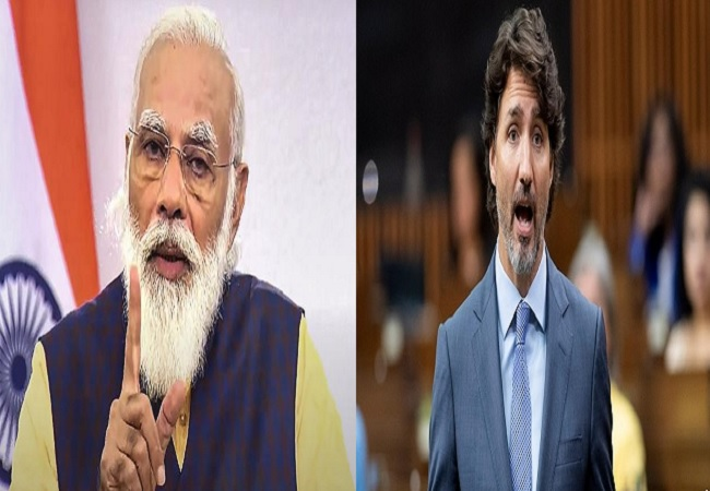 PM Modi and Justin Trudeau