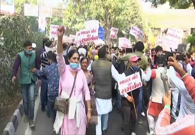 aap protest bhart bandh