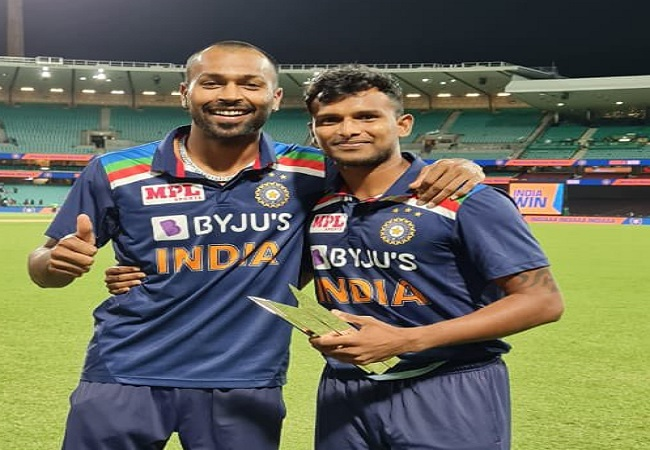 t natrajan and hardik pandya