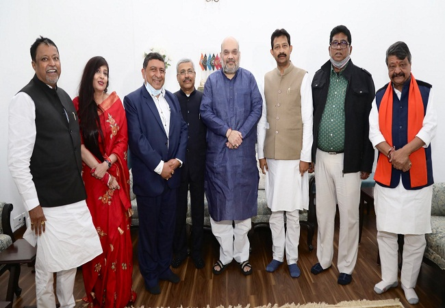 Amit Shah With WB TMC Leader Who join BJP