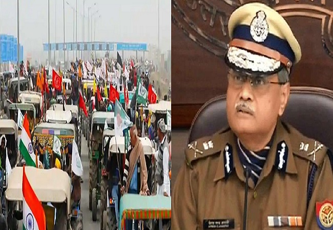 UP Police DGP Tractor parade