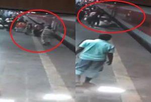 मुंबई में RPF जवान ने ट्रेन के नीचे जाने से बचाई शख्स की जान, वीडियो हुआ वायरल…